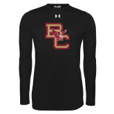 Under Armour Black Long Sleeve Tech Tee-Vintage Interlocking BC w/ Eagle