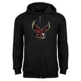 Black Fleece Full Zip Hoodie-Eagle