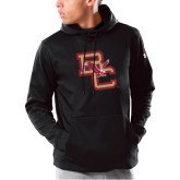 Under Armour Black Armour Fleece Hoodie-Vintage Interlocking BC w/ Eagle