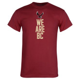Cardinal T Shirt-We are BC Vertical
