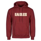 Cardinal Fleece Hoodie-Eagles Wordmark