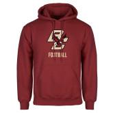 Cardinal Fleece Hoodie-Football