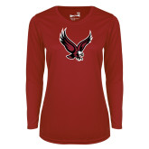 Ladies Syntrel Performance Cardinal Longsleeve Shirt-Eagle