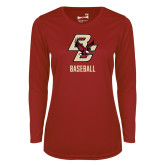 Ladies Syntrel Performance Cardinal Longsleeve Shirt-Baseball