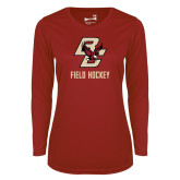 Ladies Syntrel Performance Cardinal Longsleeve Shirt-Field Hockey