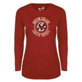 Ladies Syntrel Performance Cardinal Longsleeve Shirt-Hockey Circle