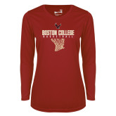 Ladies Syntrel Performance Cardinal Longsleeve Shirt-Basketball Net