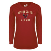 Ladies Syntrel Performance Cardinal Longsleeve Shirt-Alumni