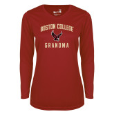 Ladies Syntrel Performance Cardinal Longsleeve Shirt-Grandma