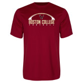 Performance Cardinal Tee-Arched Football