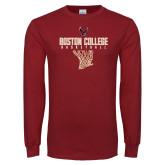 Cardinal Long Sleeve T Shirt-Basketball Net