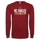 Cardinal Long Sleeve T Shirt-Boston College Basketball