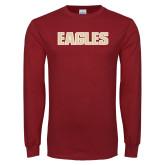 Cardinal Long Sleeve T Shirt-Eagles Wordmark