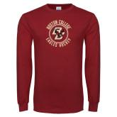Cardinal Long Sleeve T Shirt-Hockey Circle