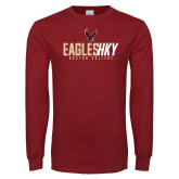 Cardinal Long Sleeve T Shirt-Hockey Ice Texture