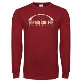 Cardinal Long Sleeve T Shirt-Arched Football