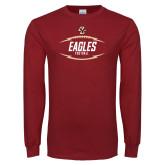 Cardinal Long Sleeve T Shirt-Lightning Football