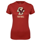 Ladies Syntrel Performance Cardinal Tee-Football