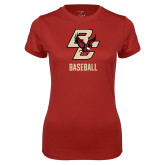 Ladies Syntrel Performance Cardinal Tee-Baseball