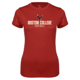 Ladies Syntrel Performance Cardinal Tee-Boston College Football