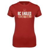 Ladies Syntrel Performance Cardinal Tee-Boston College Basketball