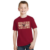 Youth Cardinal T Shirt-Block Distressed