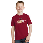 Youth Cardinal T Shirt-Hockey Ice Texture