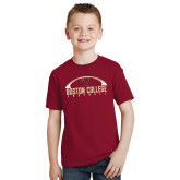 Youth Cardinal T Shirt-Arched Football