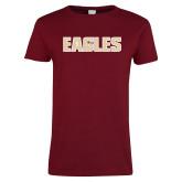 Ladies Cardinal T Shirt-Eagles Wordmark