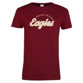 Ladies Cardinal T Shirt-Script