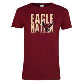 Ladies Cardinal T Shirt-Eagle Nation