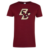 Ladies Cardinal T Shirt-Primary Mark Distressed