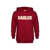 Youth Cardinal Fleece Hoodie-Eagles Wordmark