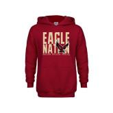 Youth Cardinal Fleece Hoodie-Eagle Nation