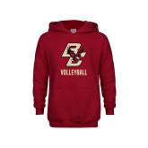 Youth Cardinal Fleece Hoodie-Volleyball