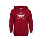 Youth Cardinal Fleece Hoodie-Lightning Football