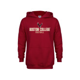 Youth Cardinal Fleece Hoodie-Boston College Football