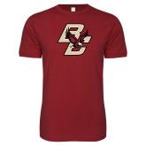 Next Level SoftStyle Cardinal T Shirt-Primary Mark