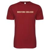 Next Level SoftStyle Cardinal T Shirt-Wordmark