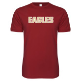Next Level SoftStyle Cardinal T Shirt-Eagles Wordmark