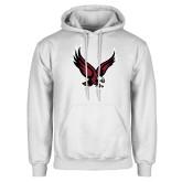 White Fleece Hoodie-Eagle