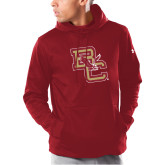 Under Armour Cardinal Armour Fleece Hoodie-Vintage Interlocking BC w/ Eagle