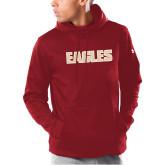 Under Armour Cardinal Armour Fleece Hoodie-Eagles Wordmark