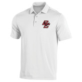 Under Armour White Performance Polo-Primary Mark