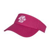 Pink Athletic Mesh Visor-Wordmark