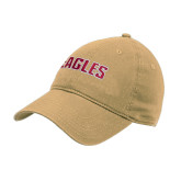 Vegas Gold Twill Unstructured Low Profile Hat-Eagles Wordmark