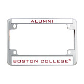 Metal Motorcycle License Plate Frame in Chrome-Boston College