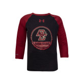 Under Armour Youth Black/Cardinal ¾ Length Tee-