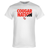 White T Shirt-Cougar Nation