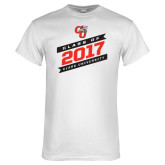 White T Shirt-Class Of - Slanted Banners, Personalized Year